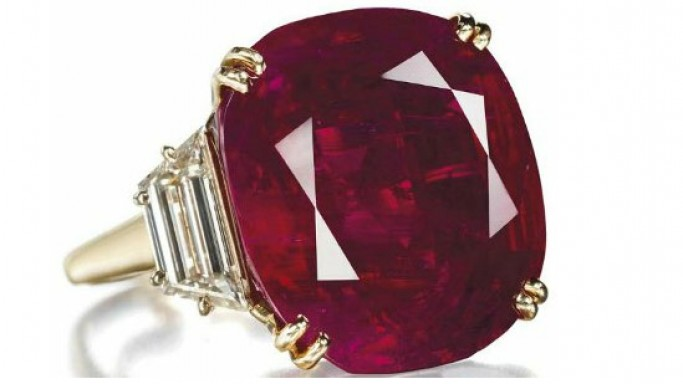 "Lily Safra's ""The Hope Ruby"" is the most expensive ruby ring at $6,742,440"