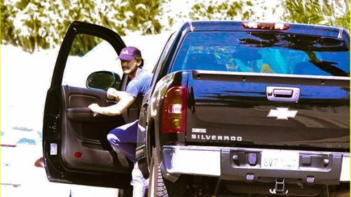Shia LeBeouf drives Chevy Silverado
