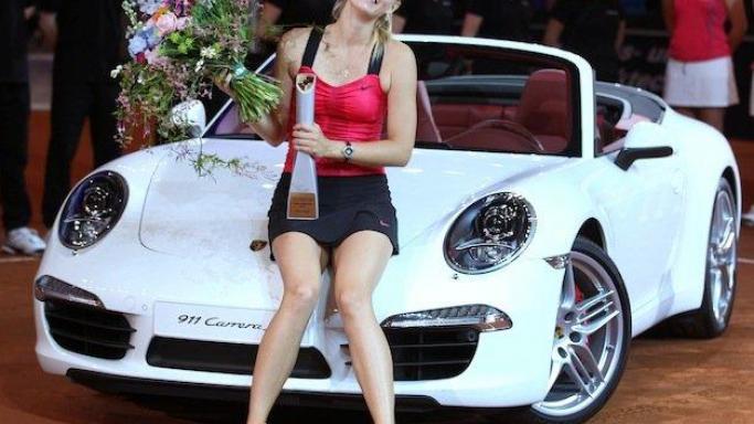 The Porsche 911 Carrera is one of Sharapova's favorite cars and she is frequently spotted driving a white model