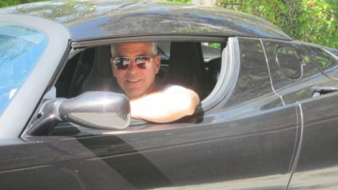 George Clooney's Tesla Roadster Up for Auction to support Sudan Charity