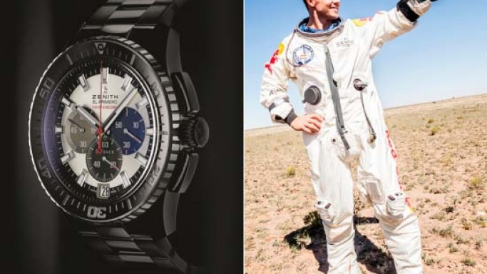 Felix Baumgartner Skydives From Space Wearing Zenith Stratos Watch