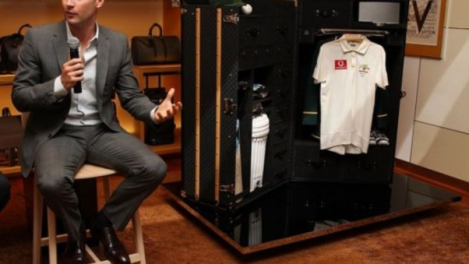 Michael Clarke's Louis Vuitton cricket trunk to auction for charity
