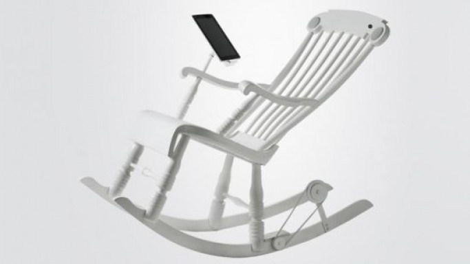 The Worlds first iPad Rocking Chair 'iRock' even charges your iPad or iPhone