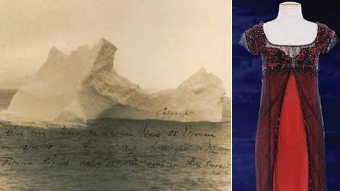Original Iceberg Titanic Photograph and Kate Winslet's Titanic Jump Dress up for auction