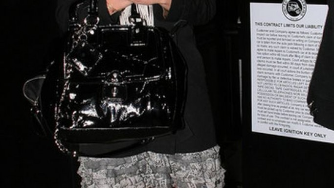 The artist was photographed flaunting her luxurious designer bag.