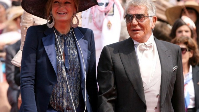 Roberto Cavalli and Eva Duringer