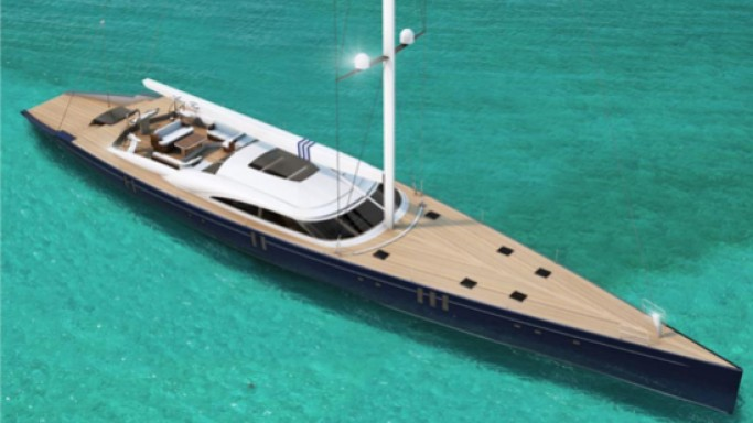 Christopher Seymour 44m Amor Fati superyacht is inspired from America's Cup yachts of the 90s