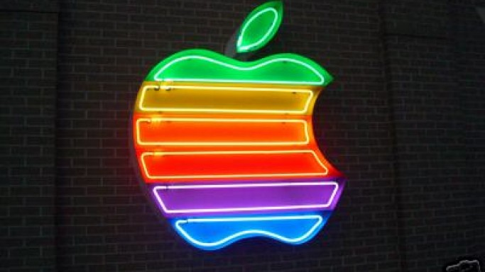 Giant Apple Computer neon sign up for bidding