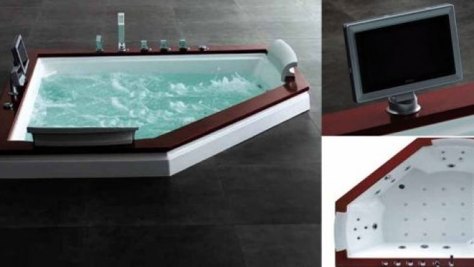 Royal A-512 Whirlpool Massage Bathtub with LCD TV