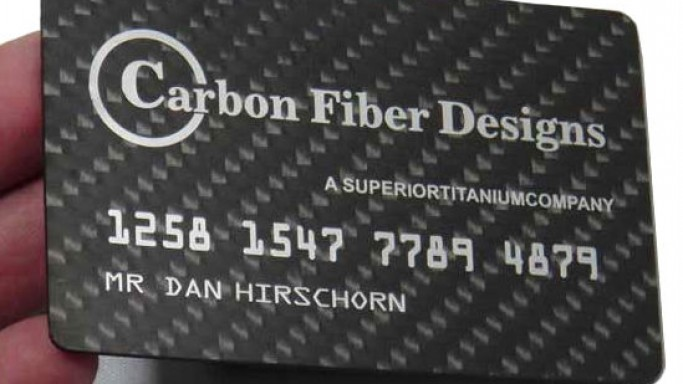 Carbon Fiber Business Cards are not meant for young startups