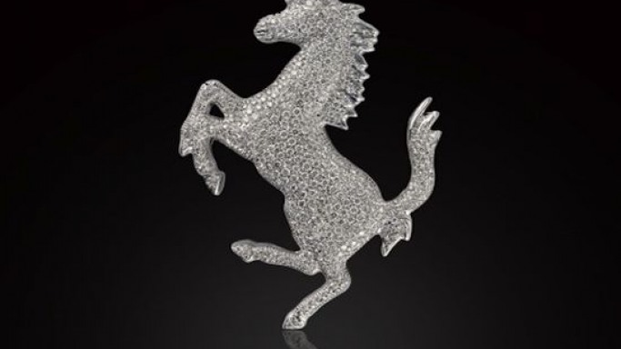 Limited edition Ferrari Brooch for the rich fashionistas