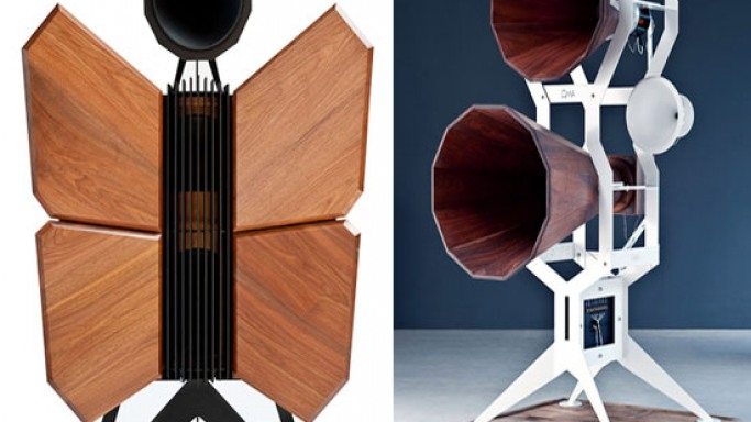 OMA Monarch, butterfly-shaped speakers boats exceptional looks & sound