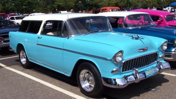 1955 Bel Air Nomad car - Color: Blue  // Description: amazing