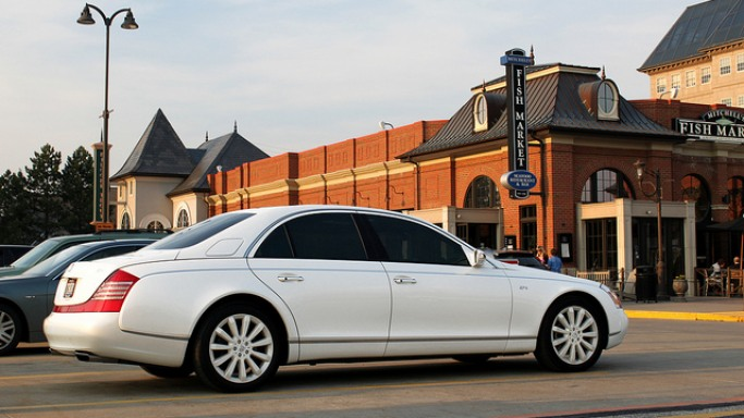 Maybach 57S car - Color: White  // Description: elegant