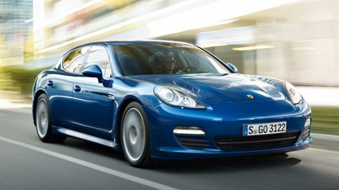 Porsche Panamera car - Color: Blue  // Description: versatile