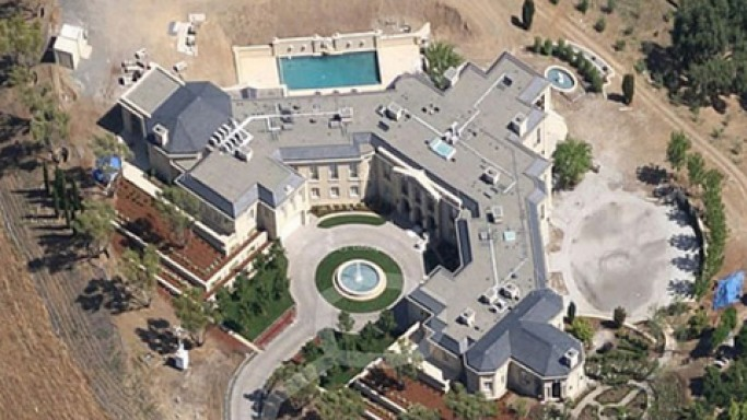 Aerial View of the mansion
