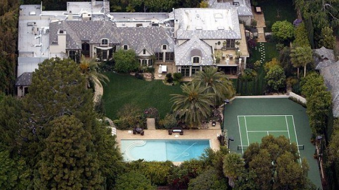 Madonna mansion in Beverly Hills, California, USA