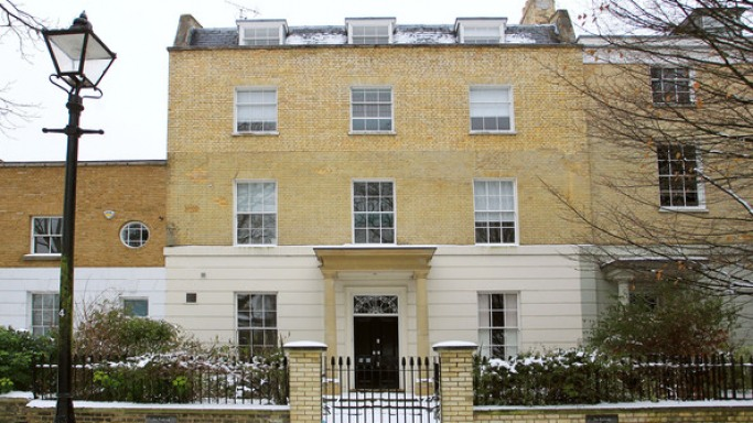 The lavish home is located in the posh Highgate neighborhood in London