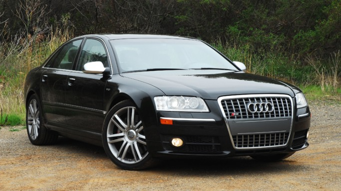 The actor owns a black Audi S8, which is the German automaker's flagship high performance sedan