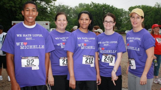 Michelle's Mates at the Kennedale Art in the Park 1 mile Fun walk