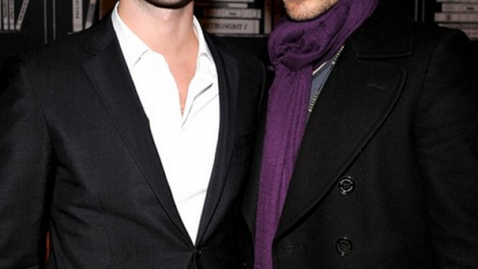 Wearing scarf is one of the retro style statements. Jared Leto donning  Chan Luu Cashmere and Silk Scarf.