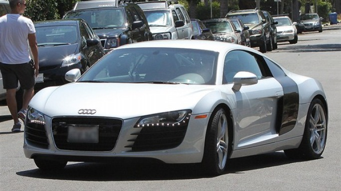 Audi R8 car - Color: White  // Description: elegant