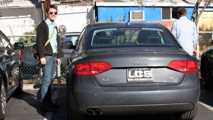 Audi A4 car - Color: Gray  // Description: amazing