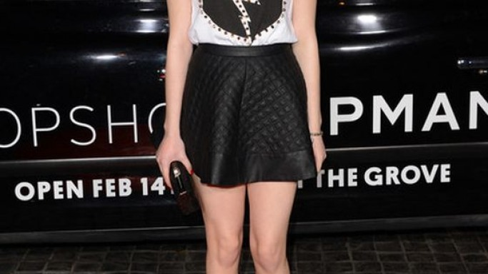 Miranda wears Topshop STUNNING Cutout Lace-up Heels