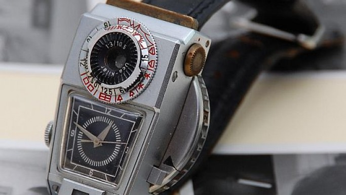 One-of-a-kind Camera Watch from the 60's for $60,000