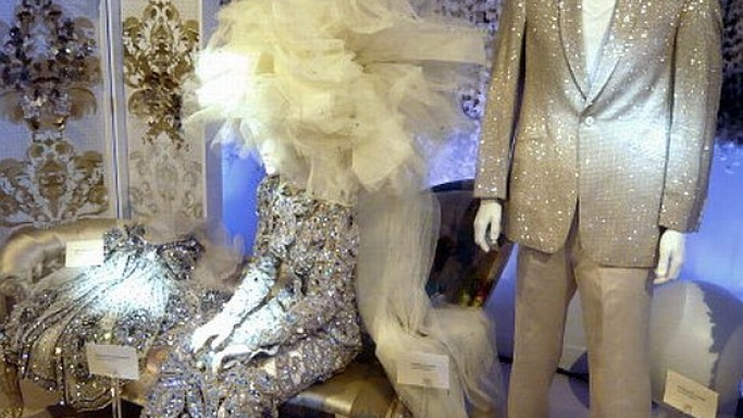Shimmering Swarovski-encrusted wedding wear