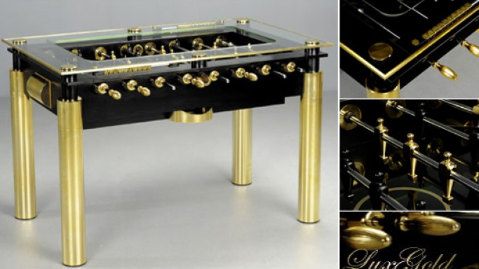 Gold Lux foosball table fit for Midas!