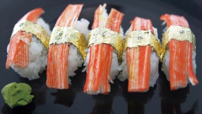 World's most expensive sushi is garnished with diamonds and gold