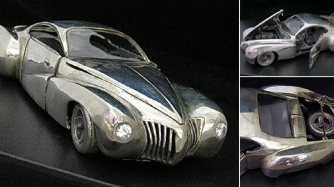Wild Custom sterling silver car paperweight is a collectible