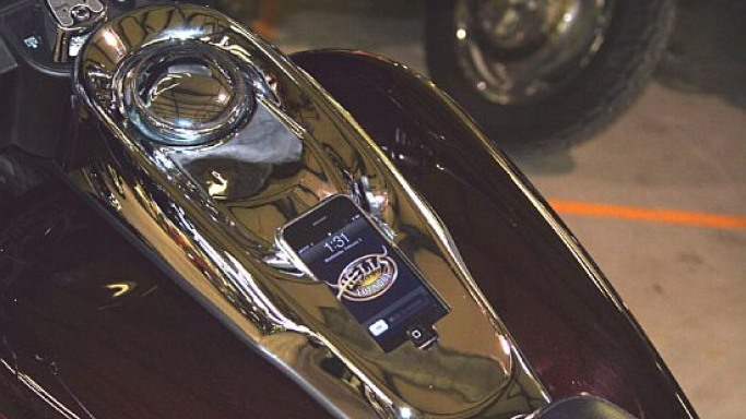 DashLink iPhone/iPod Docking Console for your Harley