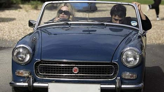 photo of Kate Moss MG Midget Mk III - car