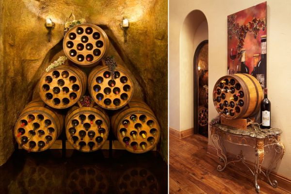 Wine-loving entrepreneur patents wine racks made from old wine barrels